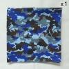 ผ้าพันคอ ผ้าโพกหัว ลายทหาร สีน้ำเงิน ผืนใหญ่
