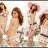 Happy Summer 012 สีขาวน้ำตาล ไซส์ M L XL