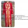 ชุดเวียดนามหญิงชั้นสูง ลายหงส์มังกร (ส่งฟรี EMS) - สีแดง