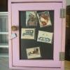 ตู้เก็บของติดผนัง สีชมพู