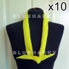 10ผืน สีเหลือง ผ้าพันคอสามเหลี่ยม ลูกเสือ 100 ซม