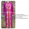 ชุดเวียดนามหญิงชั้นสูง ลายหงส์มังกร (ส่งฟรี EMS) - สีบานเย็น