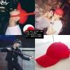 หมวกแบบ G-Dragon (red) สายสั้น