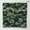 ผ้าพันคอ ผ้าโพกหัว ลายทหาร สีเขียว ผืนใหญ่