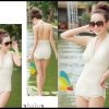 Happy Summer 013 สีขาว ไซส์ M L XL