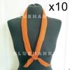 10ผืน สีส้ม ผ้าพันคอสามเหลี่ยม ลูกเสือ 100 ซม