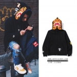 (จำนวนจำกัด) Jacket Hoodie A BATHING APE®HK TIGER SHARK BLACK Full Zip 17ss -ระบุไซต์-