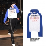 Hoodie Vetements Blue Champion Edition Antwerpen -ระบุไซต์-