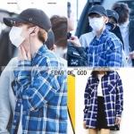 เสื้อเชิ้ต FEAR OF GOD Plaid Flannel Blue Sty.Baekhyun -ระบุไซต์-
