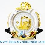 ของพรีเมี่ยม ของที่ระลึกไทย จานโชว์ แบบที่ 74 Size M สีเงินลายทอง