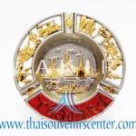 ของพรีเมี่ยม ของที่ระลึกไทย จานโชว์ แบบที่ 4 Size M ทอง-แดง