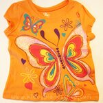 The Children's Place Short Sleeves T-Shirt Orange: Size 9-12M, 18-24M, 2T, 3T, 4T