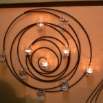 เชิงเทียนเหล็กดัดวงกลม
