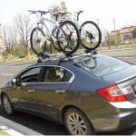 Roof Rack + Roof bars : ชุดสำเร็จรูปสำหรับวางจักรยานบนหลังคา