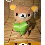 ตุ๊กตาหมีรีแลคคุมะ ถือหัวใจสีเขียว