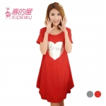 ชุดคลุมท้อง K0703 love สีแดง