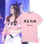 เสื้อยืด MSGM Sty.Irene Red velvet -ระบุสี/ไซต์-