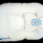 เบาะนอนเด็กอ่อนรังผึ้งฟ้า Cotton100%