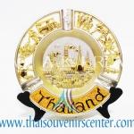 ของพรีเมี่ยม ของที่ระลึกไทย จานโชว์ แบบที่ 14 Size M ทอง-เหลือง
