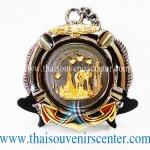 ของพรีเมี่ยม ของที่ระลึกไทย จานโชว์ แบบที่ 73 Size M สีดำลายทอง