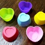 พิมพ์ซิลิโคนรูปหัวใจแบบเดี่ยว 3 cm. ( ราคา 12 ชิ้น )
