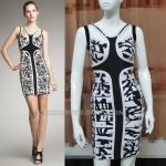 HV095 / Preorder Herve Legr Dress Style พรีออเดอร์เดรสไตล์ Hervr Leger เดรสผ้ายืด ใส่สวยเน้นรูปร่า