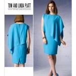 แพทเทิร์นตัดเดรสสตรี งานดีไซน์เนอร์ Vogue 1373 Size: 8-10-12-14-16
