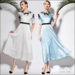 M580487 / S M L XL / 2015 Fashion dress พรีออเดอร์เดรสแฟชั่นงานเกรดยุโรป สวยดูดีมีสไตล์ นางแบบใส่ชุดจริง เป๊ะเว่อร์!