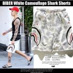 กางเกงขาสั้น Bape SHARK camo WHITE 16ss Sty.BIEBER -ระบุไซต์-