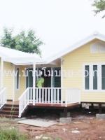 บ้านน็อคดาวน์ บ้านแฝด ขนาด 4*6 ทรงจั่ว 2หลัง 2ห้องนอน 2ห้องน้ำ 1 ห้องครัว 1 ห้องโถง ในราคา 790,000 บาท
