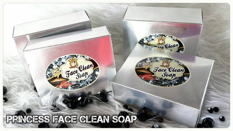 Princess Face Clean Soap. (สบู่โคลนภูเขาไฟดีท๊อกสารพิษ สำหรับผิวหน้า)