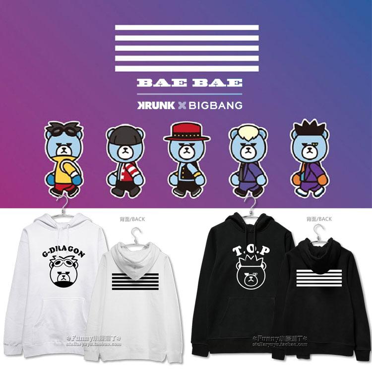 HOODIE BIGBANG MEMBER x KRUNK -ระบุสมาชิก/สี/ไซต์-