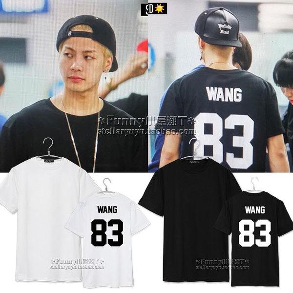 เสื้อยืด GOT7 Black Jackson WANG83 -ระบุไซต์/สี-