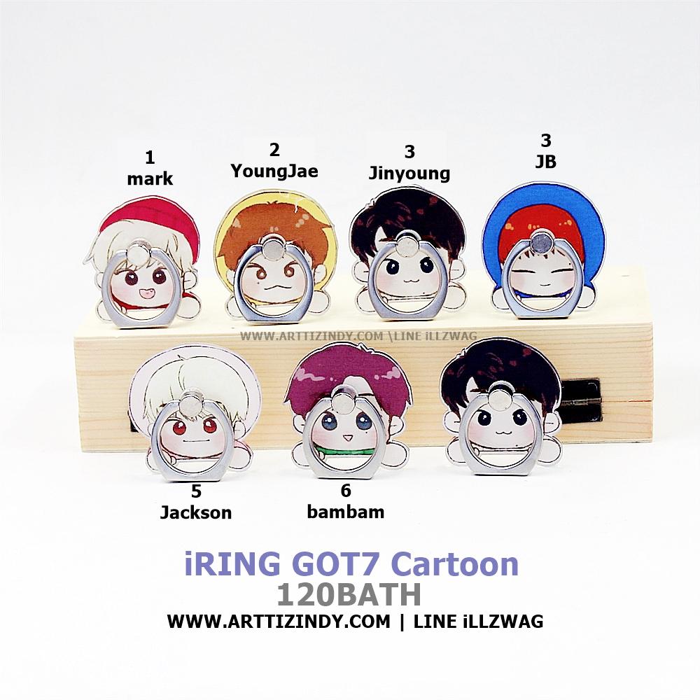 iRING GOT7 Cartoon -ระบุหมายเลข-