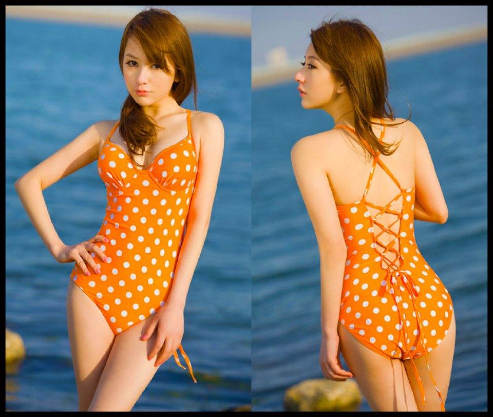 Happy Summer 008 สีส้ม ไซส์ L