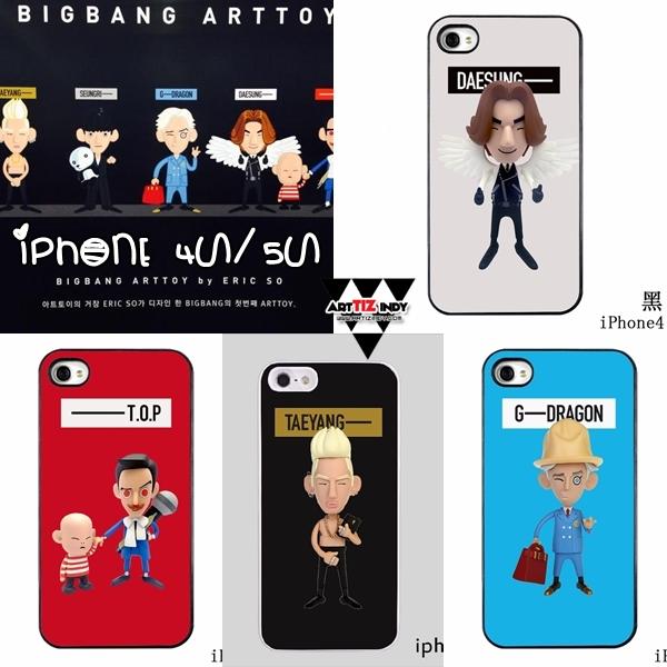 เคสไอโฟน 4/4s/5/5s BIGBANG ARTTOY -ระบุสมาชิก / รุ่น -