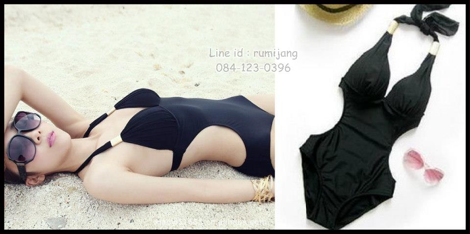 Happy Summer 001 สีดำ ไซส์ L XL