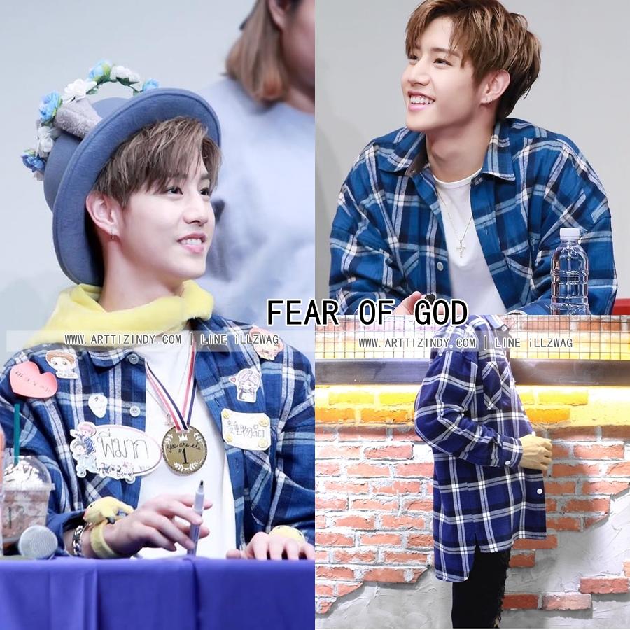 เสื้อเชิ้ต FEAR OF GOD Plaid Flannel Blue Sty.Mark -ระบุไซต์-