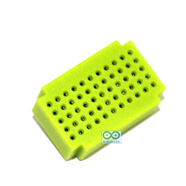 Breadboard แบบ Block ขนาดเล็ก 55 จุด สีเขียว