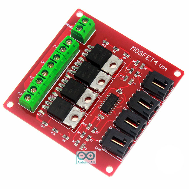Power Electronic Switch Relay 4 Block Mosfet IRF540 Isolated Motor Driver