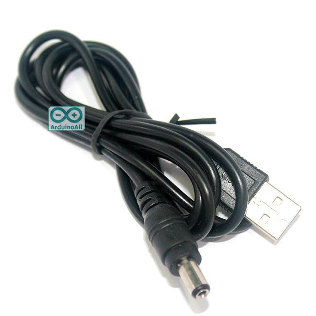 สายแปลงไฟ USB เป็น Jack 5.5x2.1mm ยาว 1.2 เมตร