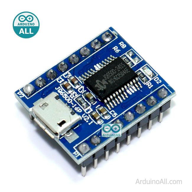 JQ6500 MP3 Player Voice Sound Module UART โมดูลเล่นเพลง MP3  บันทึกข้อมูลได้ในตัวบอร์ด