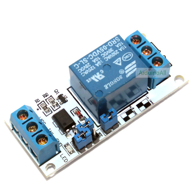 1 Channel Relay (Opto-Isolated) โมดูล รีเลย์ 1-Channel 5V relay 1 ช่อง isolation control Relay Module Shield 250V/10A