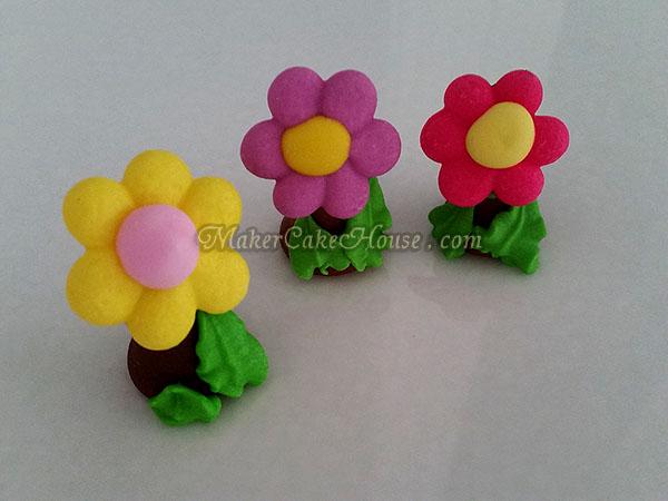 ตุ๊กตาไอซิ่งรูปดอกไม้ ( 20 ชิ้น )