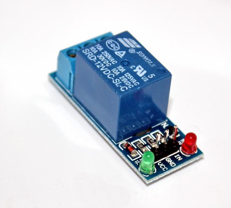 โมดูล รีเลย์ 12V relay 12v 1 ช่อง isolation Relay Module Shield 250V/10A Active High