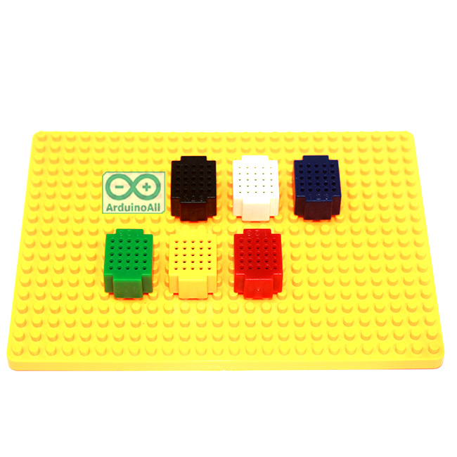 Lego Breadboard XF-25 บอร์ดทดลอง ขนาดเล็ก แบบบล็อก เลโก้ พร้อมฐาน