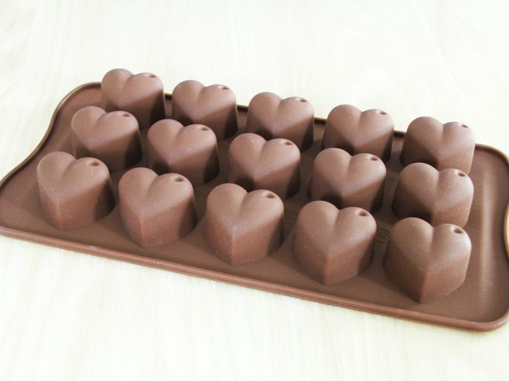 พิมพ์ซิลิโคนหัวใจทำช็อกโกแล็ต