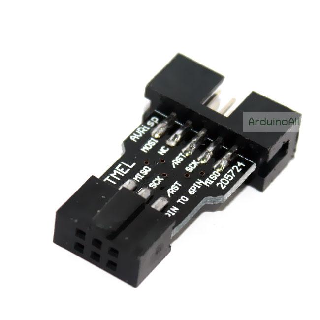 AVRISP/USBasp 10pin to 6pin Adapter