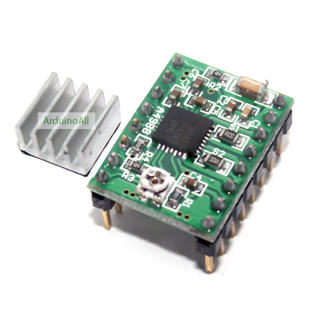 A4988 Stepper Motor Driver Module (for 3D Printer) + Heatsink
