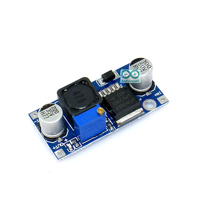 โมดูลเรกูเลเตอร์ LM2596S DC LM2596S LM2596 4-35V input voltage DC-DC step down adjustable power suppla module LM2596 DC-to-DC Step down Converter Module